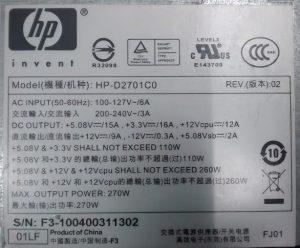 HP-D2701C0